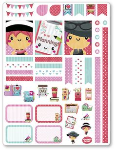 Planner Girl Decorating Kit / Weekly Spread Planner Stickers for Erin Condren Planner, Filofax, Plum Paper