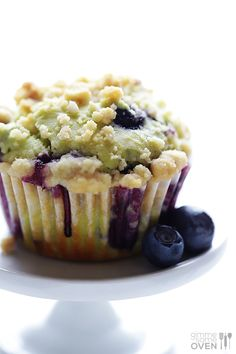 Avocado Blueberry Muffins | gimmesomeoven.com sneaking in some healthy fats