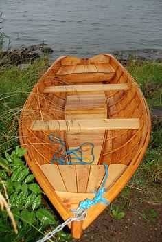 Nicely build wooden boat.