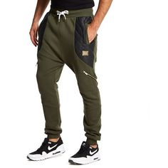 Supply & Demand Barrow Joggers (£15) ❤ liked on Polyvore featuring men's fashion, men's clothing, men's activewear, men's activewear pants, khaki, mens activewear and mens activewear pants