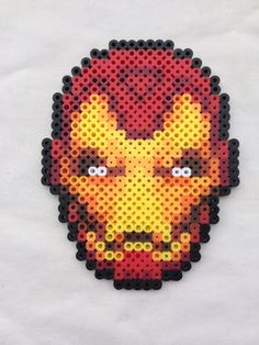 Iron Man Perler Bead Sprite for sale by PrettyPixelations!