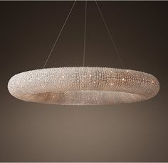 Crystal Halo Chandelier 71""
