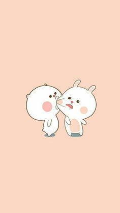 Wallpaper of cute animals Cute Couple Wallpaper, Cute Cat Wallpaper, Baby Wallpaper, Kawaii Wallpaper, Disney Wallpaper, Iphone Wallpaper, Rabbit Wallpaper, Wallpapers Android, Wallpaper Art