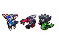 These Pokemon perler sprites are handmade to order. They are available as magnets, necklaces, pins, ornaments and keychains. x 3 Pokemon X and Y Perler - Noibat / Noivern Pyssla Pokemon, Hama Beads Pokemon, 3d Pokemon, Pokemon Sprites, Pokemon X And Y, Pokemon Craft, Pikachu, Nintendo Pokemon, Pokemon Images