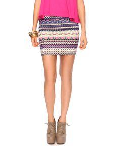 Forever 21 Aztec skirt