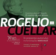Graphic front - gf news - EVENTS - - Rogelio Cuéllar @ Carturesti Carusel, Thursday, 17 of September