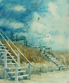 Rain on the Beach by Stephen Hawks - 75.00