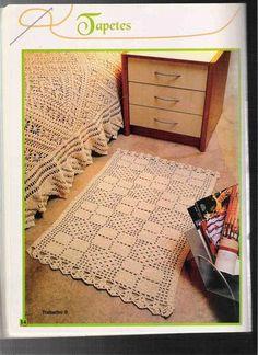 Crochet Knitting Handicraft: rugs in Crocheting