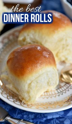 These light, fluffy, buttery dinner rolls are impossible to resist. Homemade with just a handful of simple ingredients, the BEST Dinner Rolls can you be on your table in a jiffy. These easy dinner rol Best Dinner Roll Recipe, Quick Dinner Rolls, No Yeast Dinner Rolls, Fluffy Dinner Rolls, Dinner Rolls Recipe, Recipes Dinner, Dinner Rolls Bread Machine, Holiday Recipes, Dinner Ideas