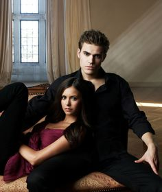 Stefan and Elena - The Vampire Diaires