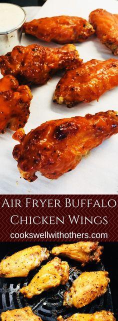 Air Fryer Buffalo Chicken Wings #airfryer #chickenwings