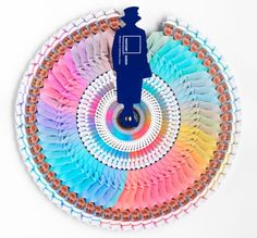 The Queen's Palette - Pantone and Leo Burnett London charted 6 decades of the Queen's style and launched a limited edition Diamond Jubilee Color Wheel. Made me smile.