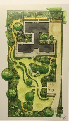 Best landscaping garden design drawing ideas - New ideas Landscape Architecture Drawing, Landscape Sketch, Landscape Design Plans, Garden Design Plans, Landscape Drawings, Architecture Plan, Urban Landscape, Masterplan Architecture, Architecture Diagrams