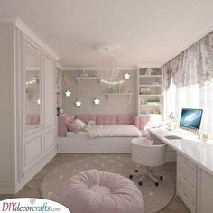 Cute Bedroom Ideas, Room Ideas Bedroom, Bedroom Furniture, Bedroom Decor, Bed Ideas, Bedroom Dressers, Bedroom Lighting, Bedroom Curtains, Bedroom Windows