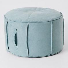 Sutton Ottoman - Pie Blue | Target Australia