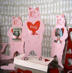 letterpress Valentine Bear Hug card. $6.00, via Etsy. Such a clever card!