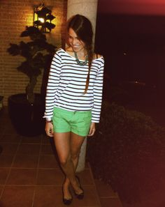ooo yes! mint shorts and stripes!