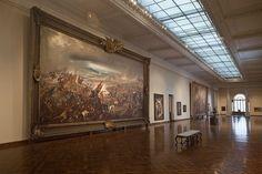 MNBA 2º andar- Primeira sala- Batalha do Avahy  - Pintor: Pedro Américo -Óleo sobre tela - Dimensões: 9 m x 6 m