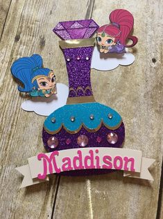 Shimmer And Shine Decorations, Shimmer And Shine Cake, Moana Decorations, Gem Cake, 5th Birthday, Birthday Ideas, Birthday Stuff, Birthday Crafts, Birthday Parties