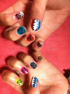 Grateful dead nails nailart by so hot right nail ramblinrose grateful dead nails done by yours truly prinsesfo Gallery