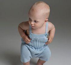 Strikkeopskrifter på Baby bukser – Strikkekit Rompers, Embroidery, Face, Kids, Monkeys, Needlepoint, Romper Clothing, For Kids, Drawn Thread