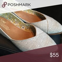 Grey Chambray Dot Women's Jutti Flats Great shoe, only worn a few times TOMS Shoes Flats & Loafers