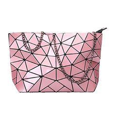 BARHEE Brand Designer Reflective Women Handbag Geometric Laser Summer Crossbody Bags for Women Fashion Messenger Bag Chain bolsa Bag Women, Metallic Bag, Quilted Handbags, Crossbody Messenger Bag, Purple Bags, Leather Chain, Leather Bag, Clutch Bag, Envelope Clutch