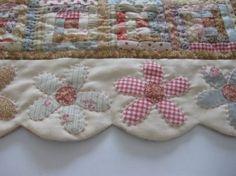 Scallop Flower Quilt Border Idea