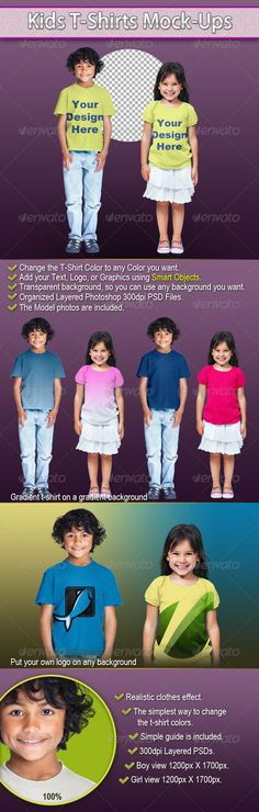 Kids T-Shirts Mock-Ups - Art101 on graphicriver, 46