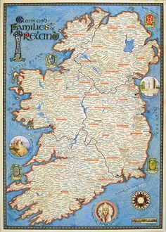 medieval ireland | Ireland medieval map | Genealogy