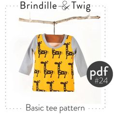 Baby sewing pattern shirt.. long & short sleeve .pdf download  seven sizes 0-3M to 2-3T