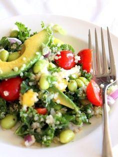Mediterranean Quinoa Salad Recipe by Skinnytaste | Maypurr #salad #recipe #quinoa