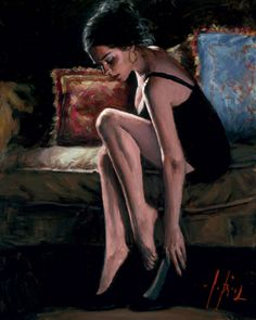 Blue and Red III - Fabian Perez
