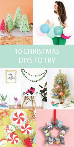 Check out this roundup of 10 last-minute Christmas DIYs to try this weekend to keep you in the holiday spirit all weekend long! Colorful Christmas Decorations, Holiday Decor, Christmas Diy, Christmas Ornaments, Diy Party, Wonderful Time, Gift Tags, Birthday Cards, Diys