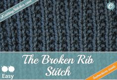 Online Rib Stitch Knitting pattern collection featuring free visual and written instructions and how-to's.