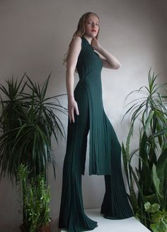 H&M Studio SS18 exclusive fashion editorial magazine Photo, styling, make-up & hair by Edi Enache Model: Tiana Cornea from Models Under Management trends, ss18, summer, spring, h&M, green, plants, botanical, garden, bottle green, blue eyes, blonde model, beige, off white