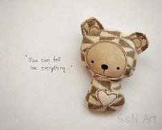 Handmade Little Soft Toy Companion by SenArt1
