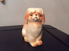 Soviet USSR Russian porcelain Dog Puppy Pekinese by Leningrad Lomonosov Porcelain Works by novcat on Etsy