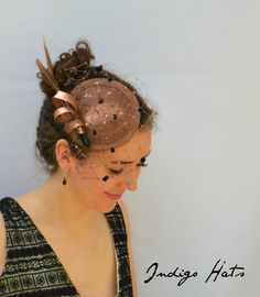 f0231f945f8b5 LONDON Fascinator in Chocolate Coffee brown - Kentucky Derby Hat - British  style hat on a headband perfect for Weddings and Garden Parties by  IndigoHats on ...