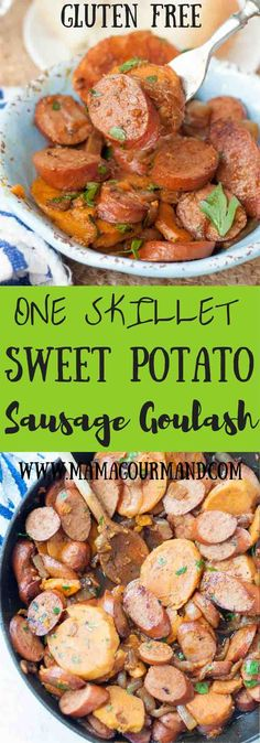 Sweet Potato, Caramelized Onion, Sausage Goulash