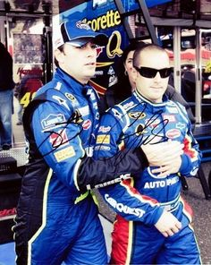 2008 Jimmie Johnson   Casey Mears  48 Lowes    5 CarQuest NASCAR 8X10 Pic 07baa13c8af9