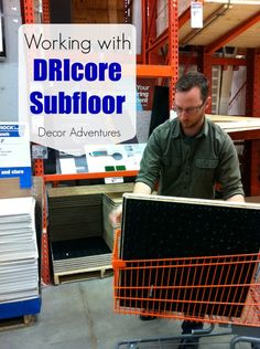 Installing DRIcore Subflooring in our basement bathroom #DIY