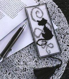 Plastic Canvas Bookmark Patterns | Catsline Plastic Canvas Bookmark - Sew and So