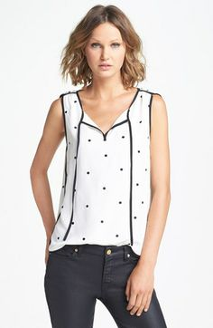 Juicy Couture 'Audrey' Polka Dot Silk Top available at #Nordstrom