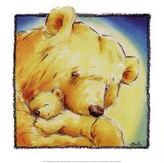 Classic Art Print Mother Bear's Love IV by Makiko - Coin D'art, Art D'ours, Mother Bears, Art Corner, Bear Art, Kids Room Art, Painting For Kids, Nursery Art, Animal Drawings
