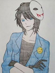 Creepypasta Slenderman, Scary Drawings, Creepy Pasta Family, Horror, Laughing Jack, Jeff The Killer, Adventure Time Anime, Drawing People, Animes Wallpapers