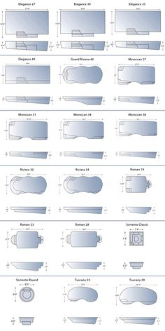 Pool Shapes And Sizes fiberglass shapes and sizes | decorating ideas | pinterest | pool
