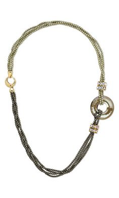 Multi-Strand Necklace with Swarovski Crystal Pearls and Focal and Dione™ Large-Hole Beads