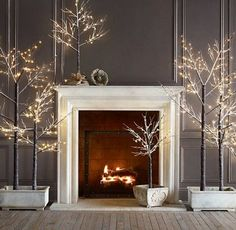 LOVE this ... it needs a little touch of red on the mantle. Beautifully elegant!