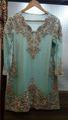 Beutifull wedding party dress in aqua green color Model 1213 – Nameera by Farooq Pakistani Fancy Dresses, Pakistani Wedding Outfits, Pakistani Dress Design, Bridal Outfits, Stylish Dresses, Casual Dresses, Fashion Dresses, Red Lehenga, Lehenga Choli